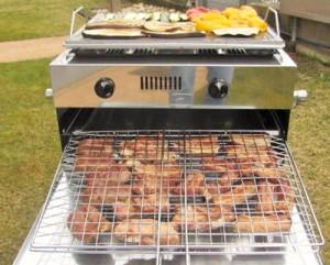 Grill da casa Mibos - barbecue a gas no fumo - barbecue a gas con piastra in acciaio inox