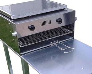 """""""Grill da casa Mibos - barbecue a gas che non fa fumo - barbecue a gas con piastra in acciaio inox"""""""