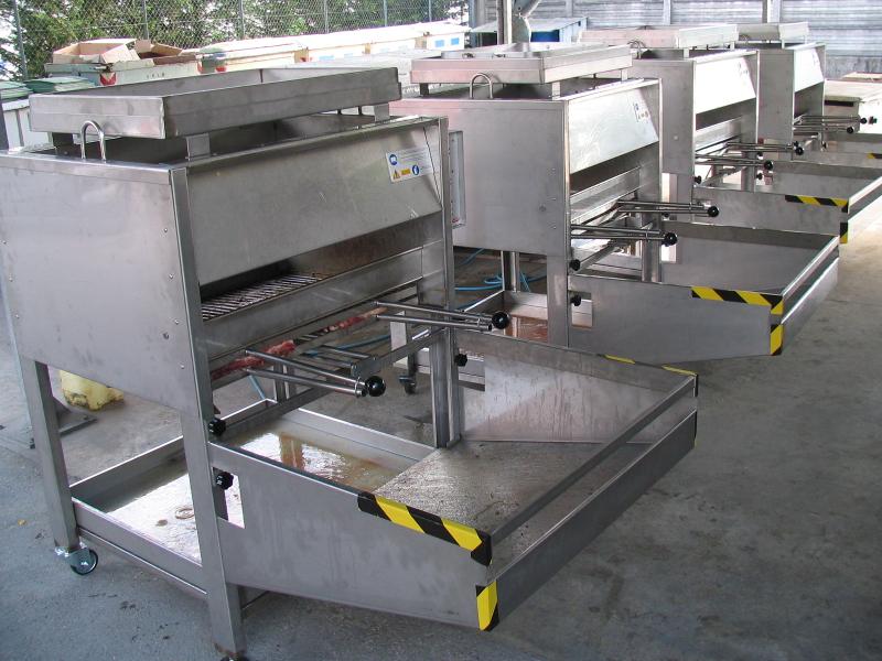 Grill a gas professionali in batteria - griglia a gas professionale - barbecue professionale per ristorazione