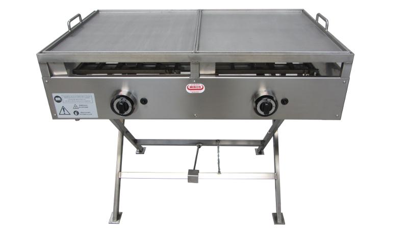 Piastra in acciaio inox a gas per cucinare - Piastra di cottura in ...