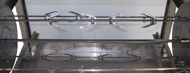Accessorio spiedo per griglia a gas professionale - barbecue professionali per ristorazione