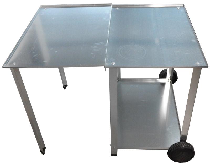 Mobile inox CASAGRILL Mibos - barbecue a gas no fumo - barbecue a gas con piastra in acciaio inox