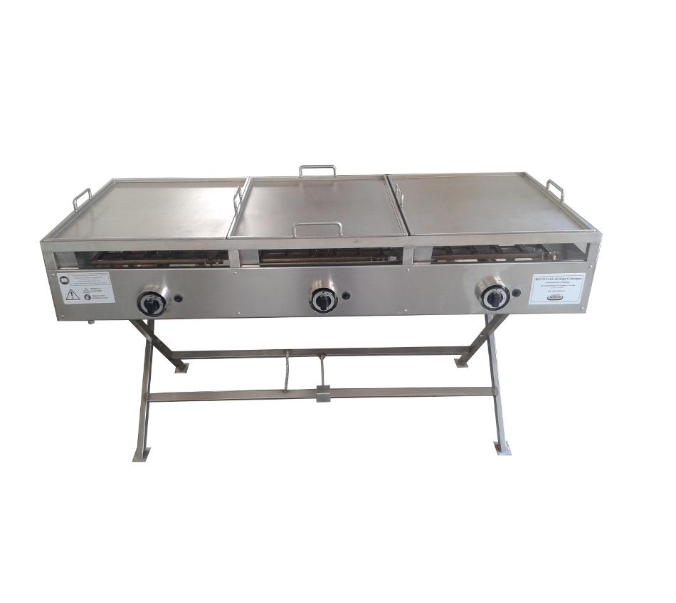 Barbecue professionale griglie professionali a gas per - Piastra in acciaio inox per cucinare ...